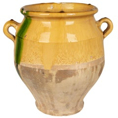 19th Century French Terracotta Confit Pot