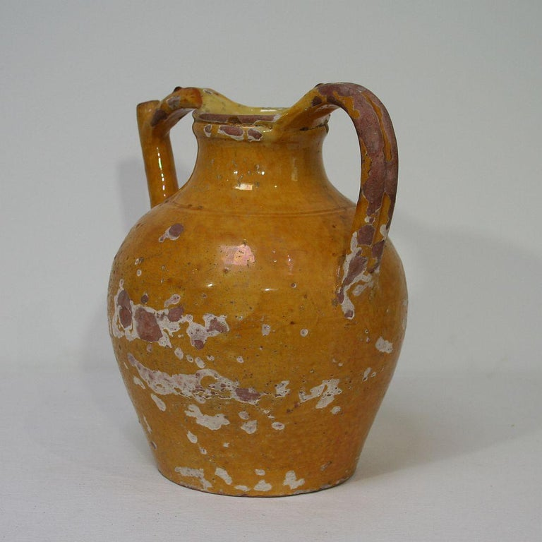 19th Century French Terracotta Jug or Water Cruche For Sale 1
