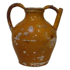 19th Century French Terracotta Jug or Water Cruche