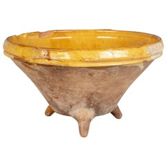 19th Century French Terracotta Pottery Colander