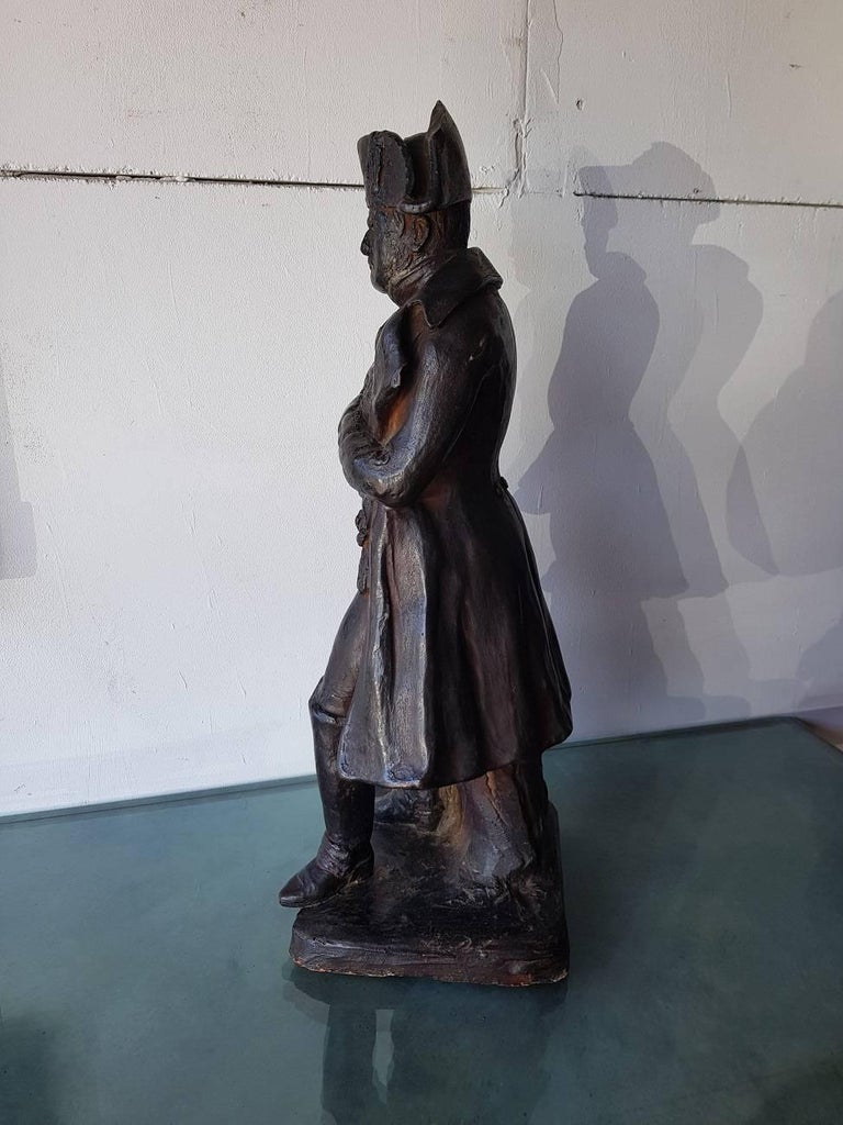 19th Century French Terracotta Statue of Napoleon Bonaparte In Good Condition For Sale In Raalte, NL