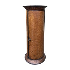 19th Century French Tole Faux Bois Column or Serviette/Plate Warmer
