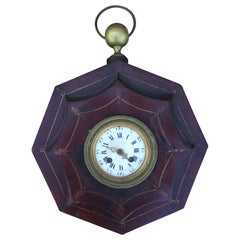 19th Century French Tole Wall Clock