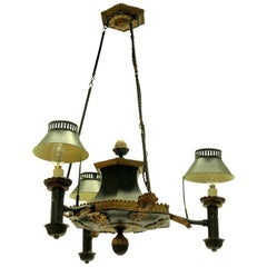 19th Century French Toleware Chandelier