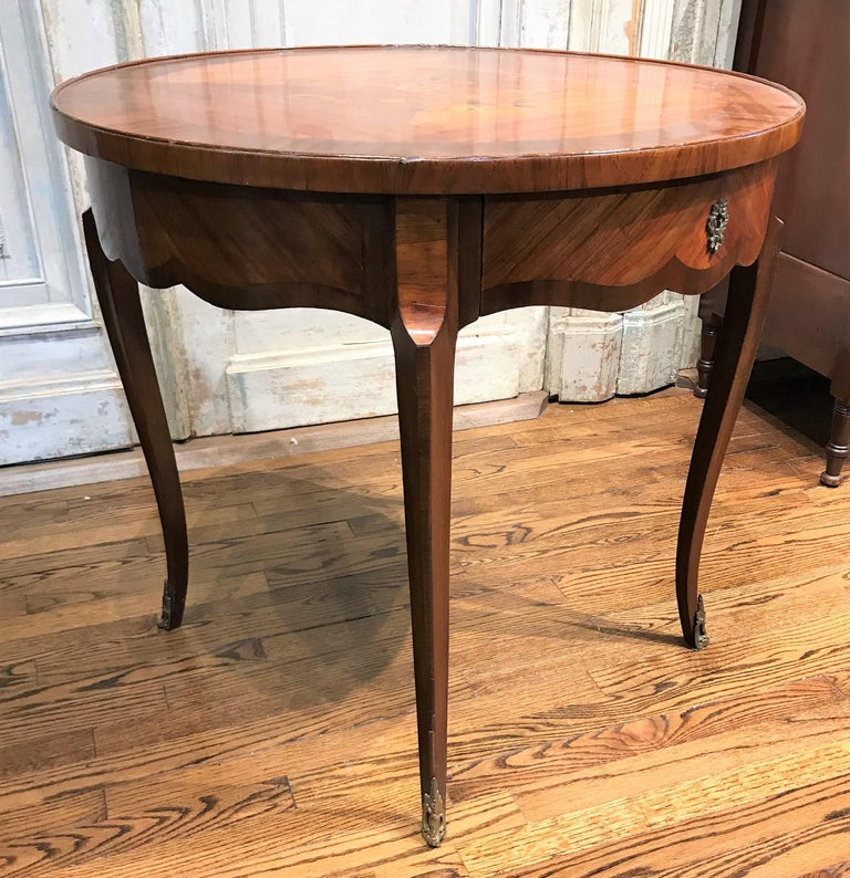 Louis XV 19th Century French Transitional Table For Sale