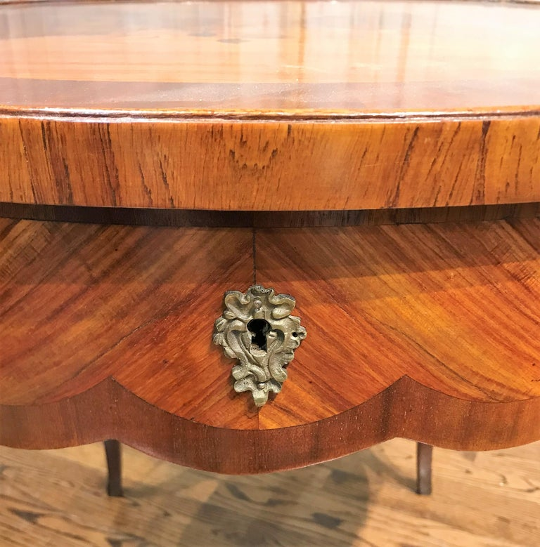 Inlay 19th Century French Transitional Table For Sale