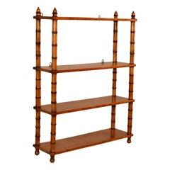 19th Century French Turned Shelf