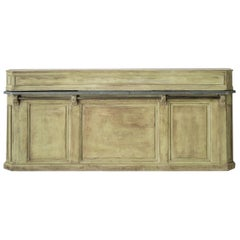 19th Century French Two-Part Painted Dry Bar with Zinc Top