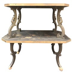 19th Century French Two-Tier Chinoiserie Table by Maison De L'Escalier