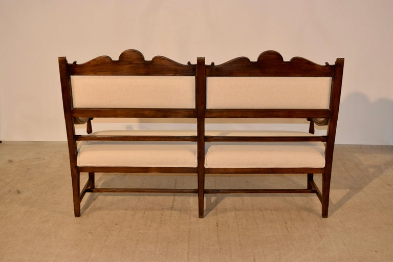 19th Century French Upholstered Bench For Sale 1