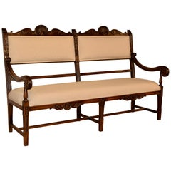 19th Century French Upholstered Bench