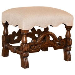19th Century French Upholstered Stool