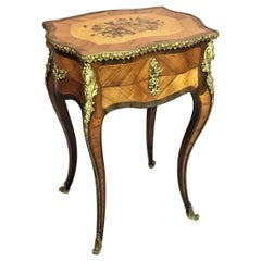 19th Century French Vanity Table / Sewing Table by Tahan Paris