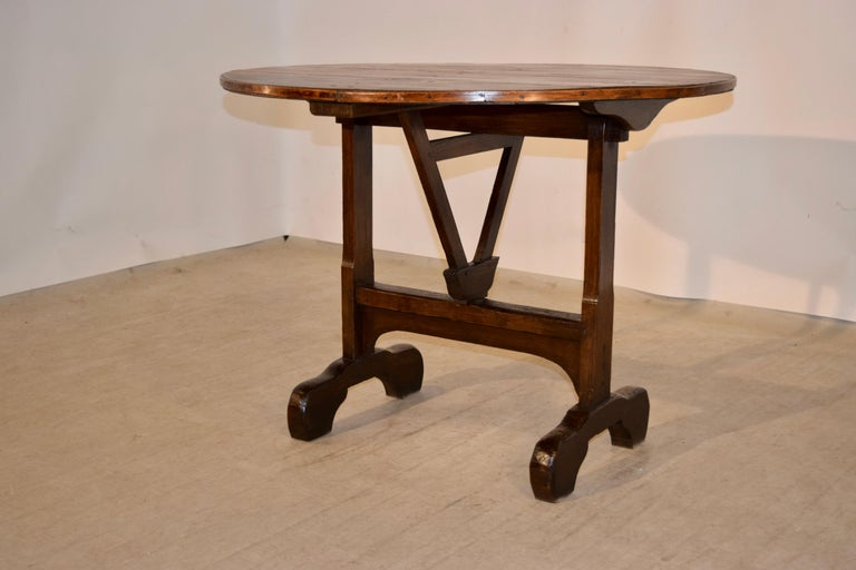 Country 19th Century French Vendange Table For Sale