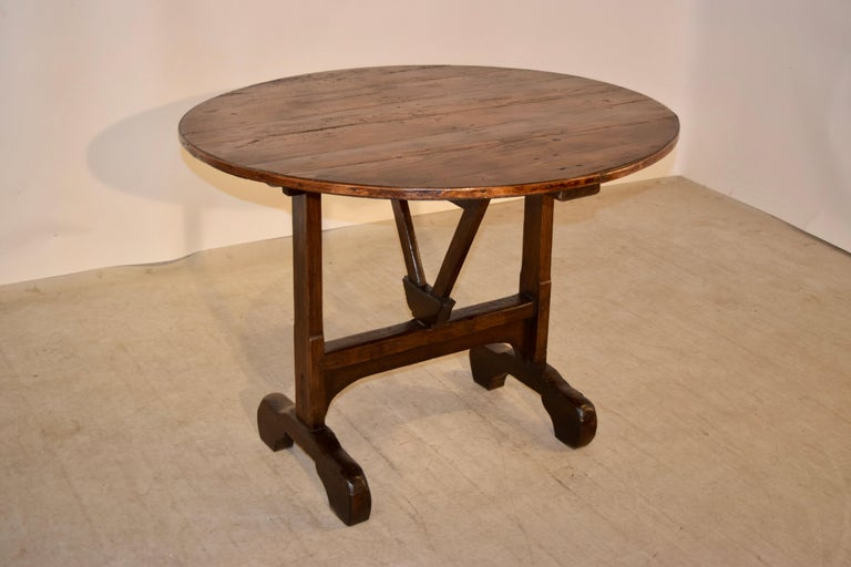 19th Century French Vendange Table In Good Condition For Sale In High Point, NC