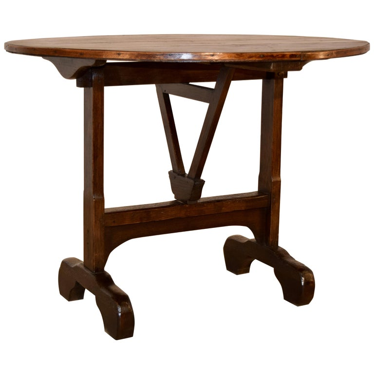 19th Century French Vendange Table For Sale