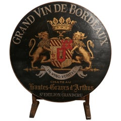 19th Century French Vineyard Wine Table from Chateau Nantes-Graves d'Arthus