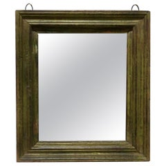 19th Century French Wall Mirror with an Old Painted Frame