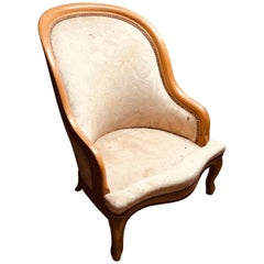 19th Century French Walnut Armchair in Louis XV Style