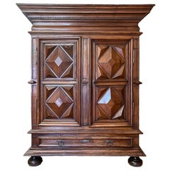 19th Century French Walnut Armoire Louis XIII
