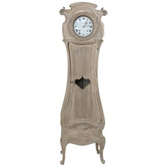 19th Century French Walnut Art Nouveau Long Case Clock
