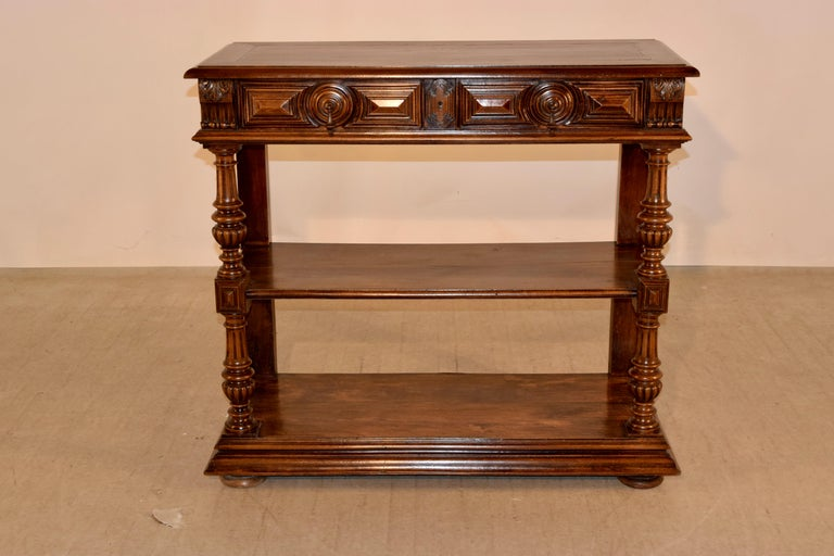 Napoleon III 19th Century French Walnut Buffet For Sale