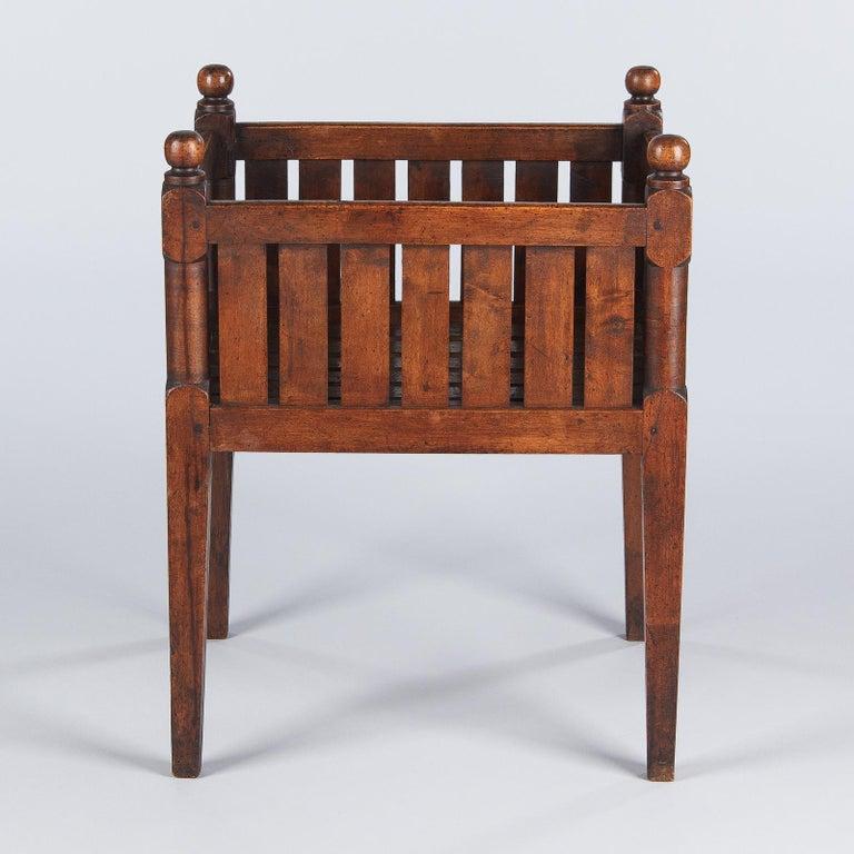19th Century French Walnut Planter Jardiniere For Sale 10