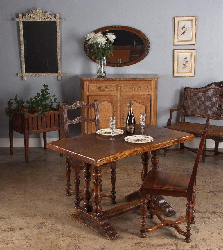 19th Century French Walnut Planter Jardiniere For Sale 15