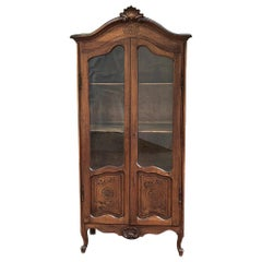 19th Century French Walnut Louis XV Vitrine