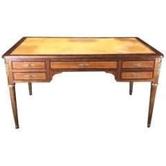 19th Century French Walnut Louis XVI Desk