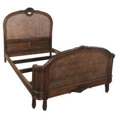 19th Century French Walnut Louis XVI Neoclassical Bed, circa 1870