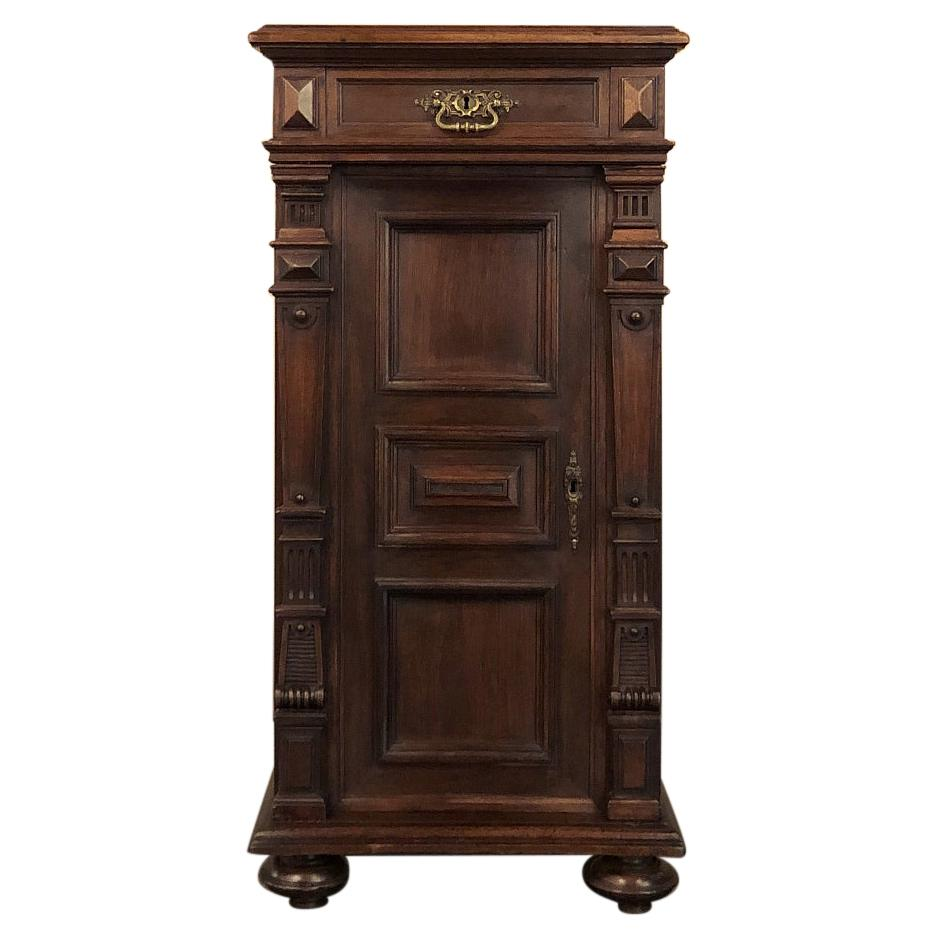 19th Century French Walnut Neoclassical Petit File Cabinet