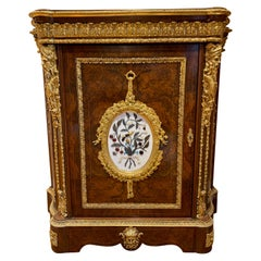 19th Century French Walnut Pier Cabinet