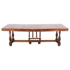 19th Century French Walnut Renaissance Revival Dining Table from Chanel Villa
