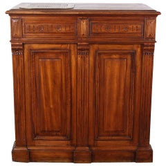 19th Century French Walnut Shop Counter