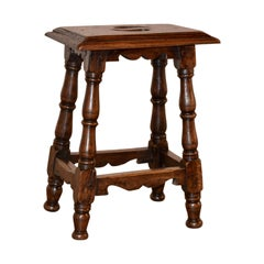 19th Century French Walnut Stool