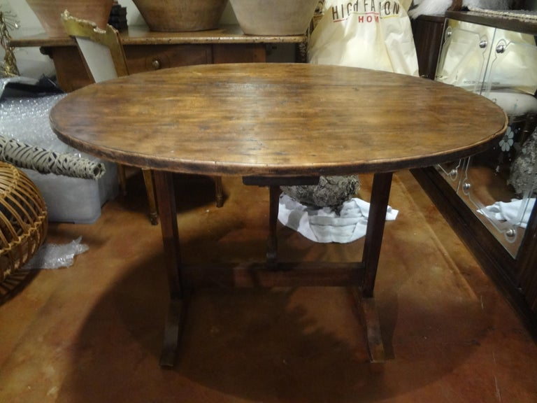 French Provincial 19th Century French Walnut Wine Tasting Table For Sale