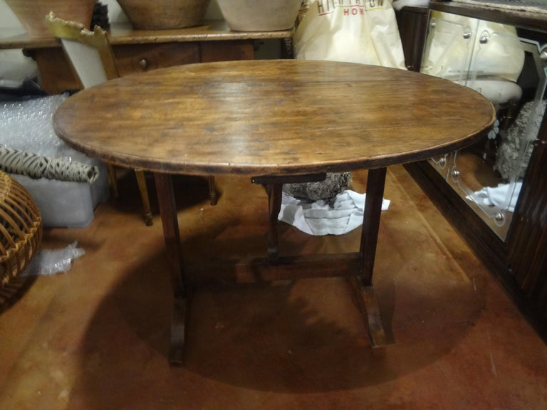 19th Century French Walnut Wine Tasting Table In Good Condition For Sale In Houston, TX