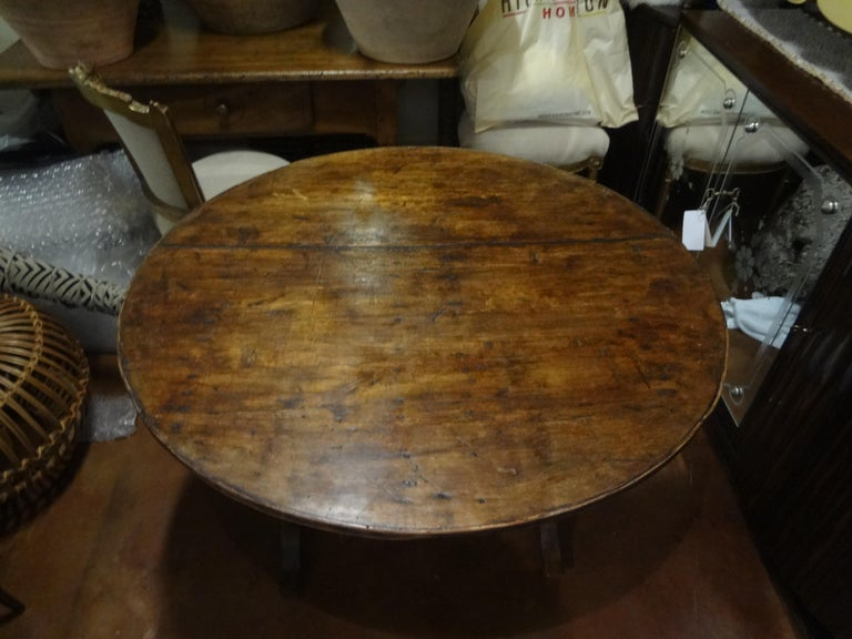 19th Century French Walnut Wine Tasting Table For Sale 2