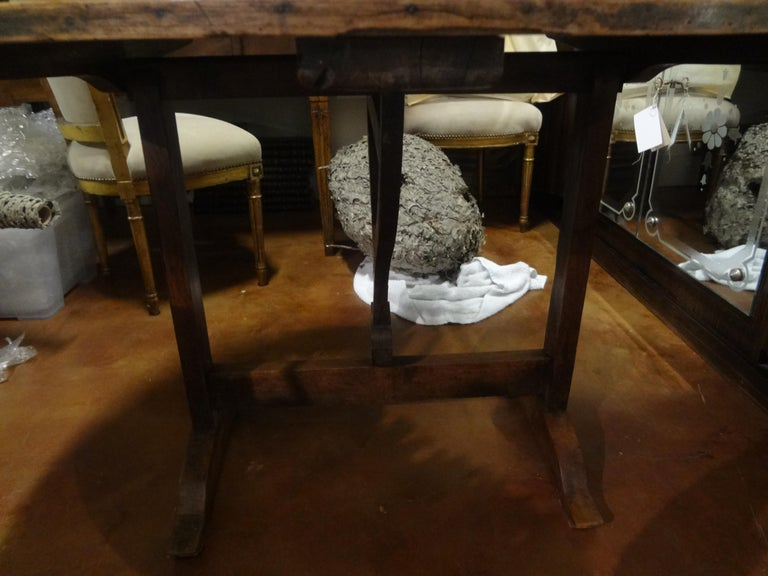 19th Century French Walnut Wine Tasting Table For Sale 6