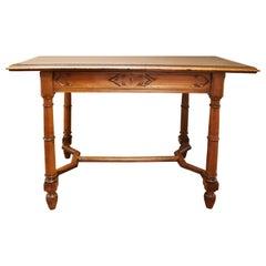 19th Century French Walnut Writing Desk
