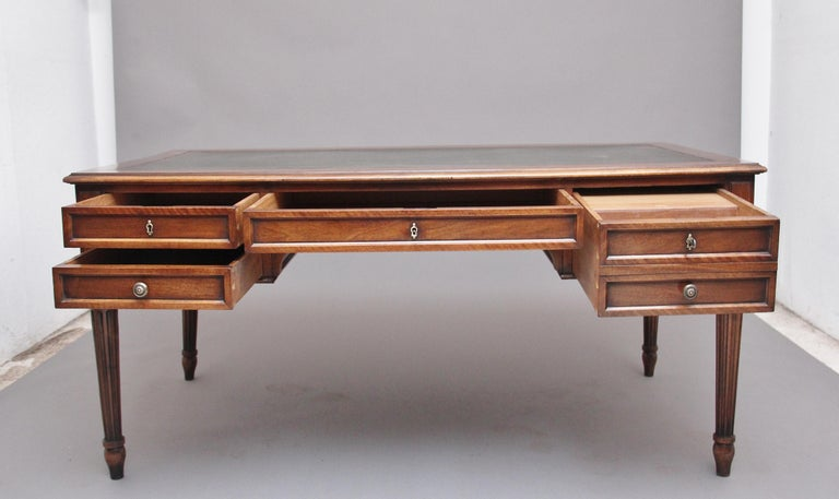 Late 19th Century 19th Century French Walnut Writing Table For Sale