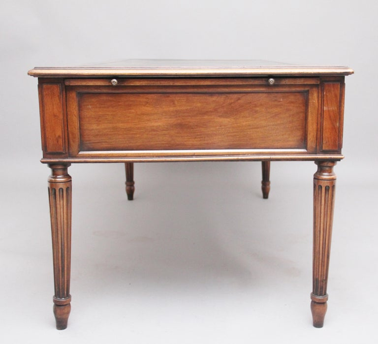 19th Century French Walnut Writing Table For Sale 4