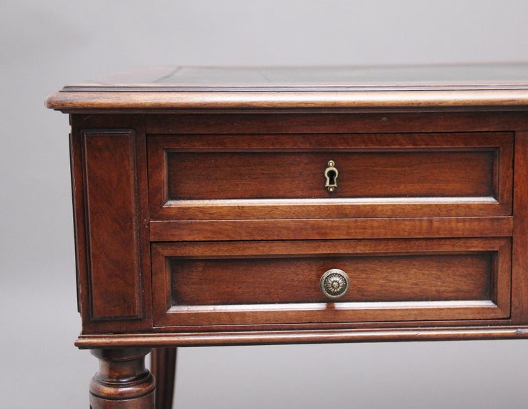 19th Century French Walnut Writing Table For Sale 5