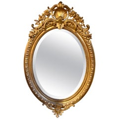 19th Century French Water Gilded Mirror