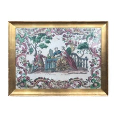 """19th Century French Watercolor """"La Manana Le Matin"""" or """"In the Morning"""" Unsigned"""