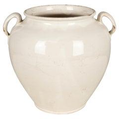19th Century French White Glazed Honey Pot