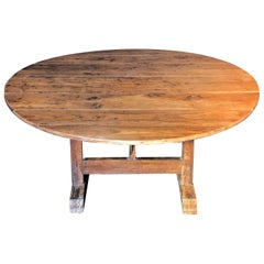 19th Century French Wine Tasting Table Gorgeous Wood