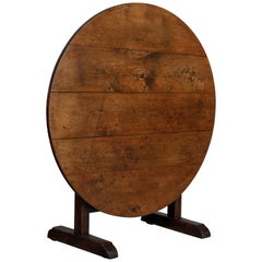 19th Century French Wine Tasting Table or Tilt-Top Table