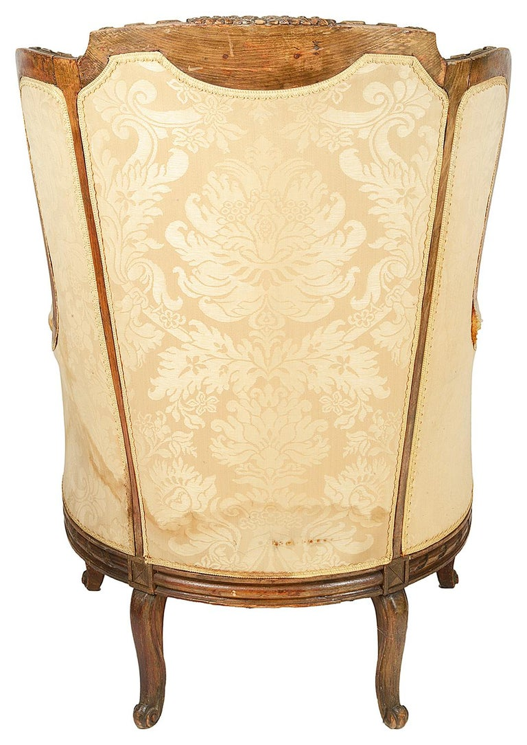19th Century French Wing Armchair For Sale at 1stdibs